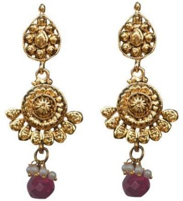 ACW Gold Plated Pink Drop Earrings for Women Alloy Drop Earring