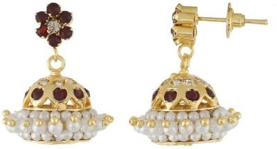 Nisa Pearls Trend setting Onyx Alloy Jhumki Earring