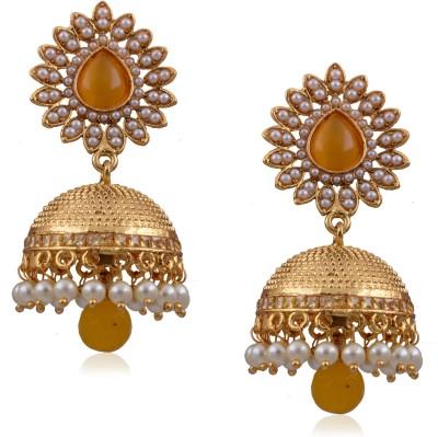 Prisha ATGOL1880 Zircon Copper Jhumki Earring