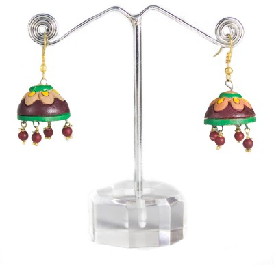TANDRA,S TERRACOTTA Multicolour Terracotta Jhumki Earring