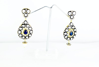 Chouhan Stylish blackish blue latkan Metal Drop Earring