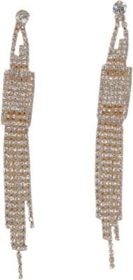 WoW Gold Drop Crystal Tassel Earring