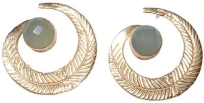 Gharaz Semi precious stone studs Brass Stud Earring