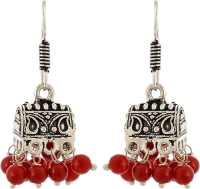 Subharpit Hanging Beads Metal Dangle Earring