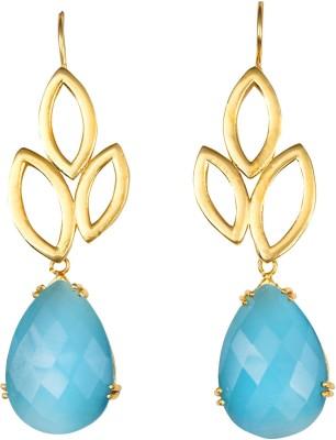 Magiq Trinayani-Blue Stone, Brass Dangle Earring