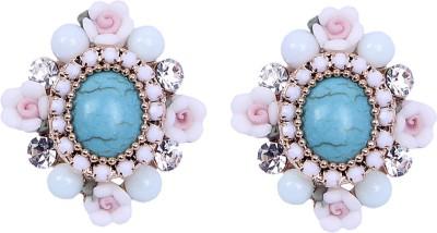 CHKOKKO Flower Stone Alloy Stud Earring