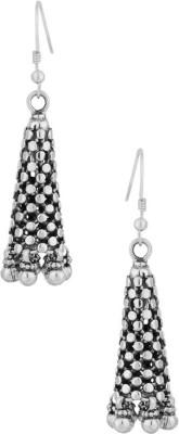 Gemshop STERLING 92.5 IN OXIDISED FINISH Silver Dangle Earring