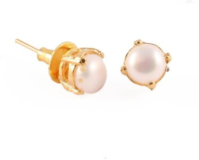 Vanshika Jewels single pearl Alloy Stud Earring