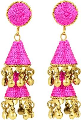 Harini Pink Cone Shape Alloy Jhumki Earring