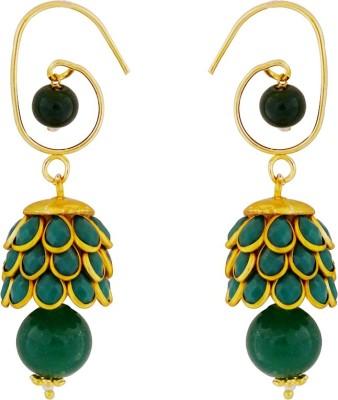 Gems N Pearls Pachhi Brass Jhumki Earring
