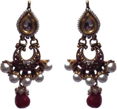 Kundaan Special Earrings Pair Crystal Copper, Alloy Jhumki Earring