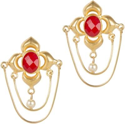 Mehtaphor Aashi_2 Crystal Brass Drop Earring