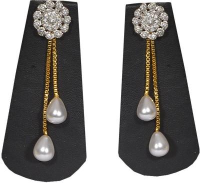 Pourni Drop Pearl Brass Drop Earring