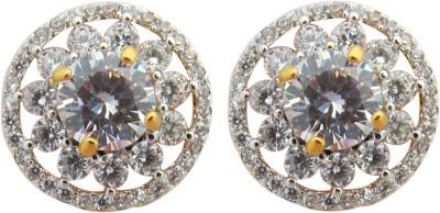 Fashionage Fashionage Ethnic Delite American Diamond Brass Stud Earring