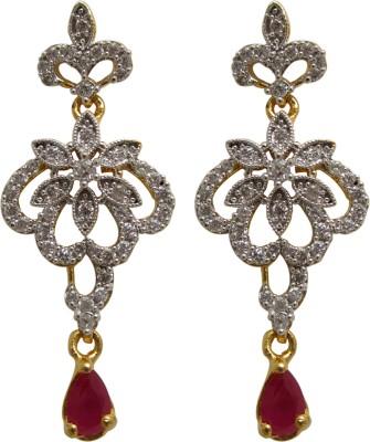 Maheshwari Fashion Cubic Zirconia Copper Drop Earring