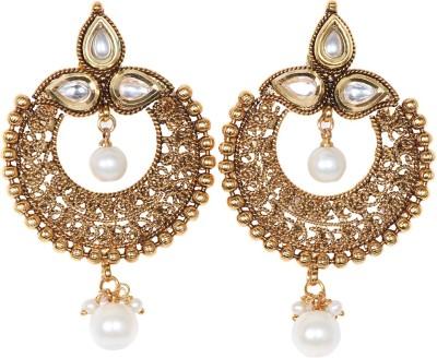 Saraa Royal Wedding Cubic Zirconia Metal Chandbali Earring