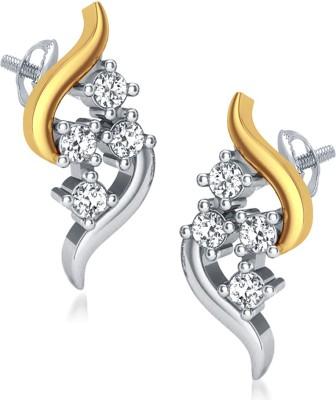 Aamanat Frabjous Swarovski Crystal Sterling Silver Stud Earring