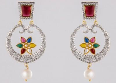 Krishna Pearls & Jewellers Pearl Alloy Dangle Earring