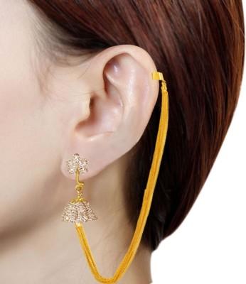 Prisha PPIPLCZER7 Zircon Copper Jhumki Earring