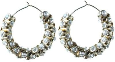 Aanjaneys Indian Ethnics Stylist Brass Hoop Earring