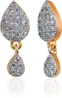 Fashion Fusion ES006503A Aaminah Cubic Zirconia Brass, Alloy Drop Earring