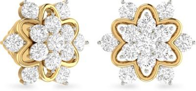 WearYourShine by PC Jewellers PC Jeweller The Carlosa Yellow Gold 18kt Diamond Stud Earring at flipkart