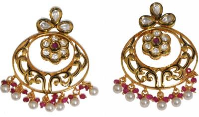 Rivaz Jewels Zircon Brass Chandbali Earring