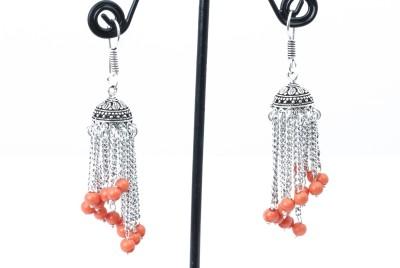 Waama Jewels Lovely Orange Metal Jhumki Earring