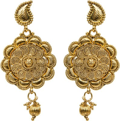 Grand Jewels Circle Alloy Chandelier Earring