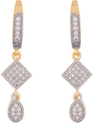 Dazzle Collections Stunning Golden Hanging Alloy Drop Earring