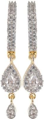 Waama Jewels Golden Brass Earring gift for him my wife Womens jewellery Metal Earring Set