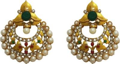 Aarnaa Ruby Green Alloy Chandelier Earring