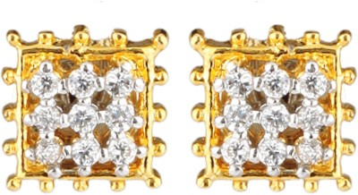 Be You Classy Cubic Zirconia Brass Stud Earring