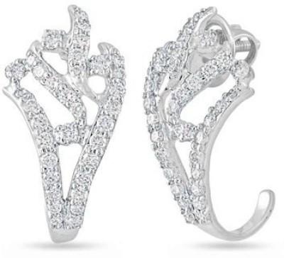 VelvetCase Open work Earrings diamond Earrings Gold Hoop Earring