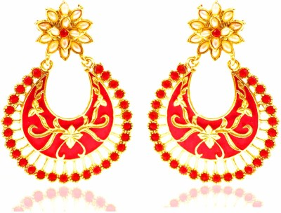 Bling N Beads Flower Designer Alloy Chandbali Earring