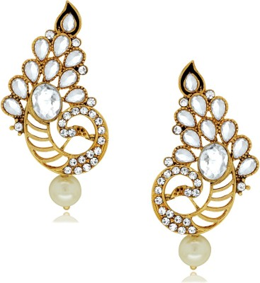 Spargz Fashionable Peacock with AD Stone Alloy Stud Earring