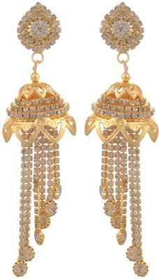 Blacksmith Enthralling Gold Crystal Metal Jhumki Earring