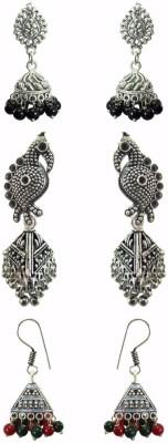 Chhayamoy Oxidised Silver Jhumki Bird Daily Use Alloy Earring Set