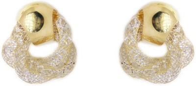 000 Fashions Golden Air Bamp Studs with crystal Crystal Alloy Stud Earring