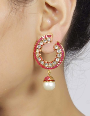 Muchmore Traditional Earring Ruby Alloy Dangle Earring