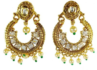 AsiaCraft gold plated pearl Metal Drop Earring