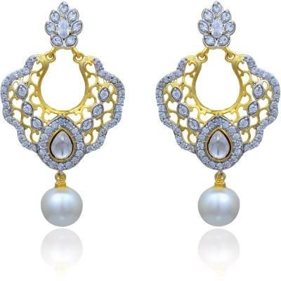RC Designer Brass Drop Earring