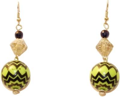 Women Trendz Rhodium Polish Brass Dangle Earring