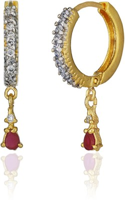 Fashion Fusion Ranita Cubic Zirconia Brass, Copper, Silver Hoop Earring