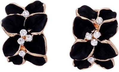 Amour Partywear Big Flower Crystal Alloy Stud Earring