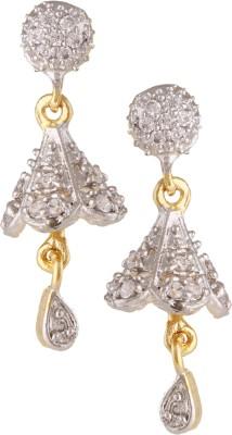 Fashionaya Diamond Round Cubic Zirconia Alloy Jhumki Earring