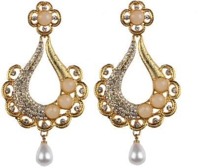 Aashvi Creation Party Pearl Alloy Chandbali Earring