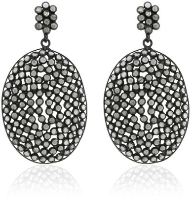 SuvidhaArts Victorian Fashion Cubic Zirconia Brass Drop Earring