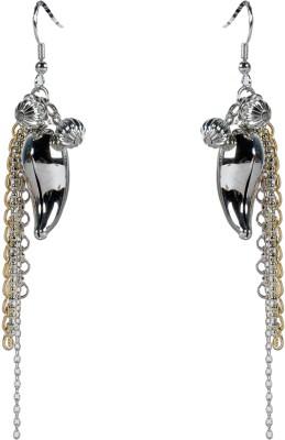 Luxor Marvelous Petal Design Brass Dangle Earring