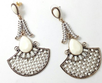 Gennext Dazzling white Alloy Drop Earring